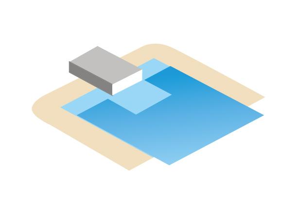 Découpe bloc filtrant