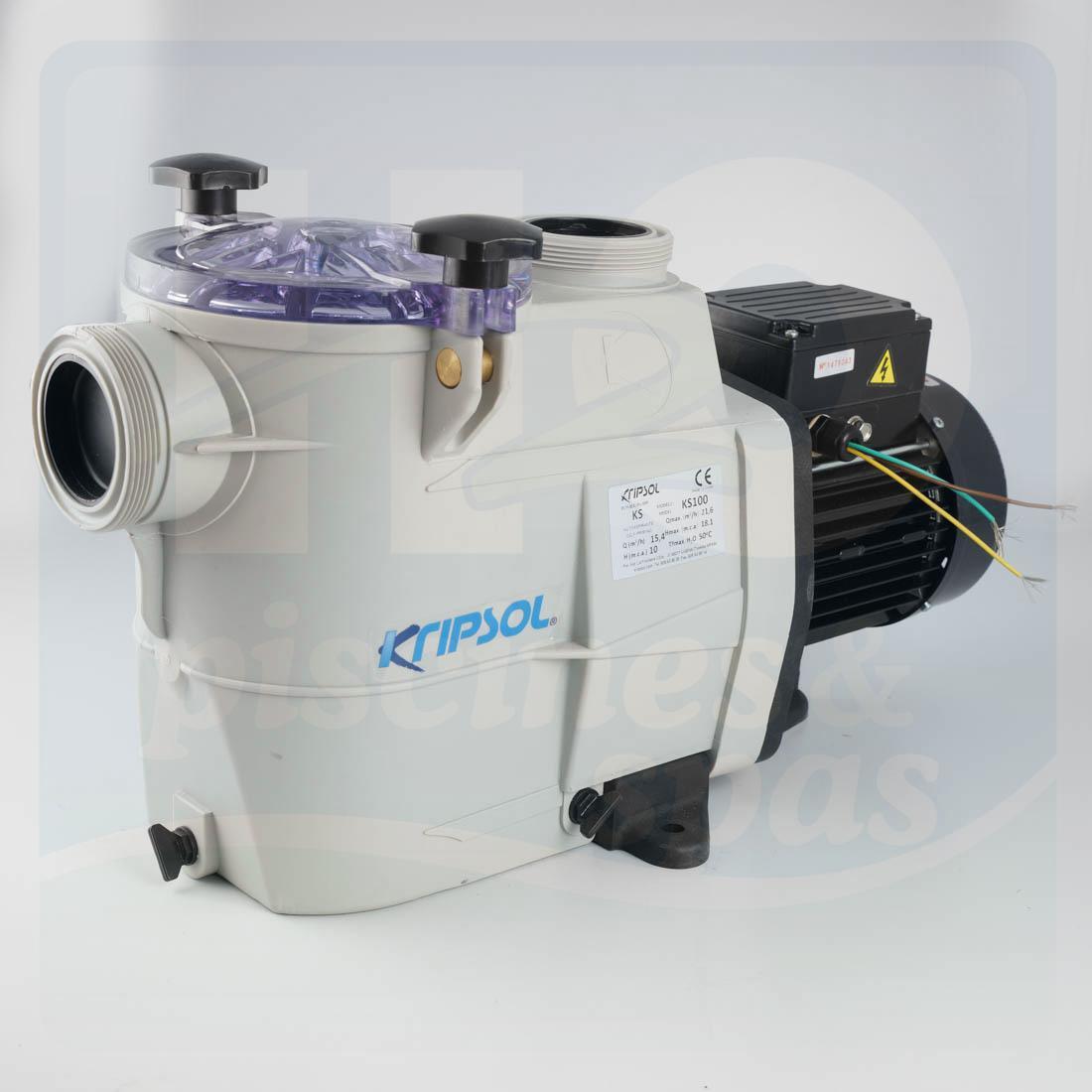Pompe de filtration kripsol delfino ks koral 100t 1cv for Pompe piscine kripsol