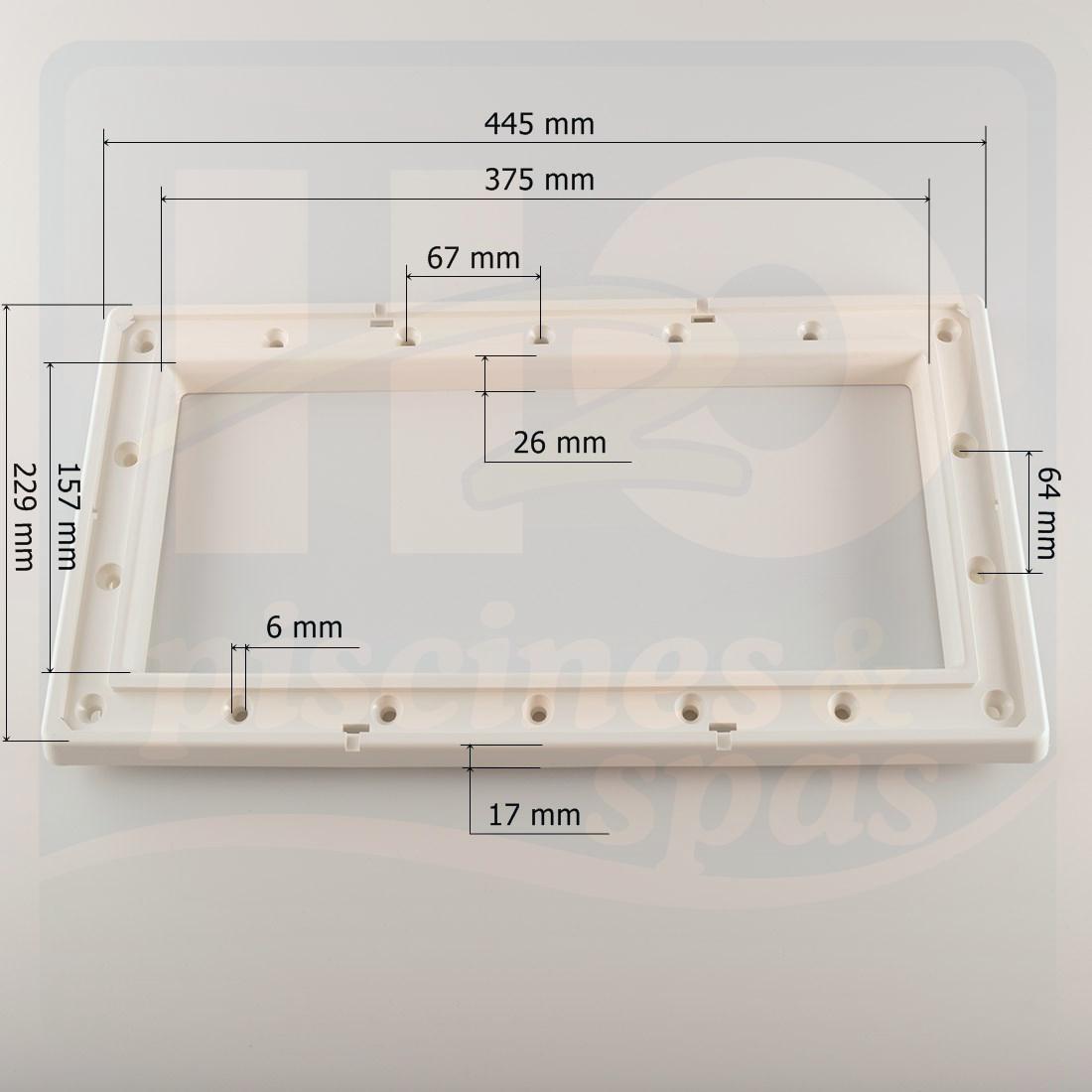 cadre bride vis de skimmer astral pour piscine liner h2o piscines spas. Black Bedroom Furniture Sets. Home Design Ideas