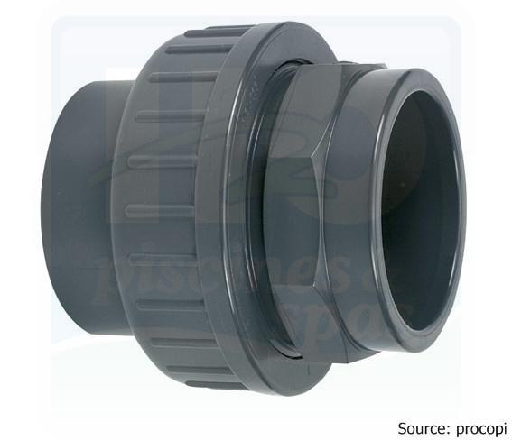 Raccord union pvc pression en diamtre 50mm femelle for Raccord pvc piscine 50