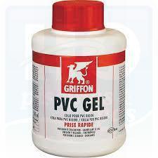 Colle gel blanche pour tuyau pvc rigide gris en pot de for Colle pour pvc piscine