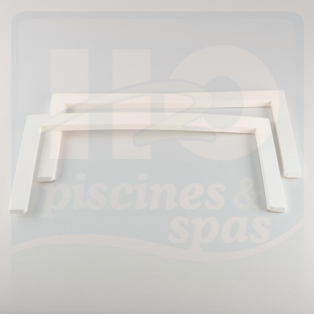 Cache bride de rechange de skimmer miroir aquareva blanc for Piscine skimmer miroir