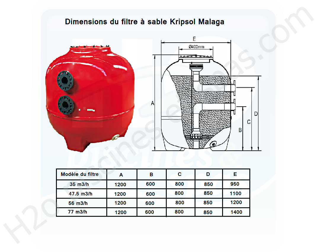 77 H2o Spas Piscinesamp; Filtre Kripsol 1400 Malaga M3h 0X8NOkwPn