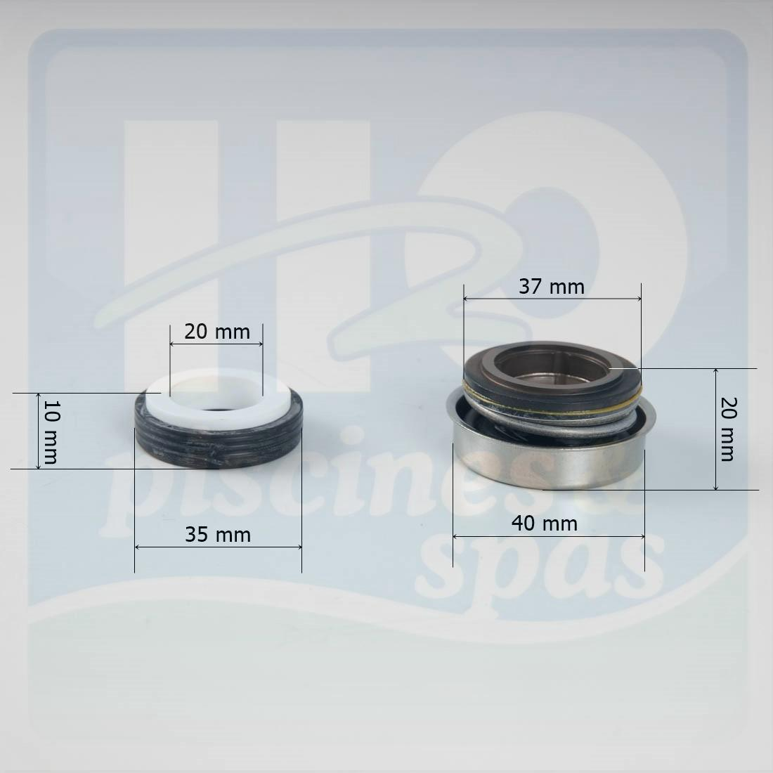 Garniture mcanique de pompe astral glass plus h2o piscines spas for Pompe piscine astral glass plus