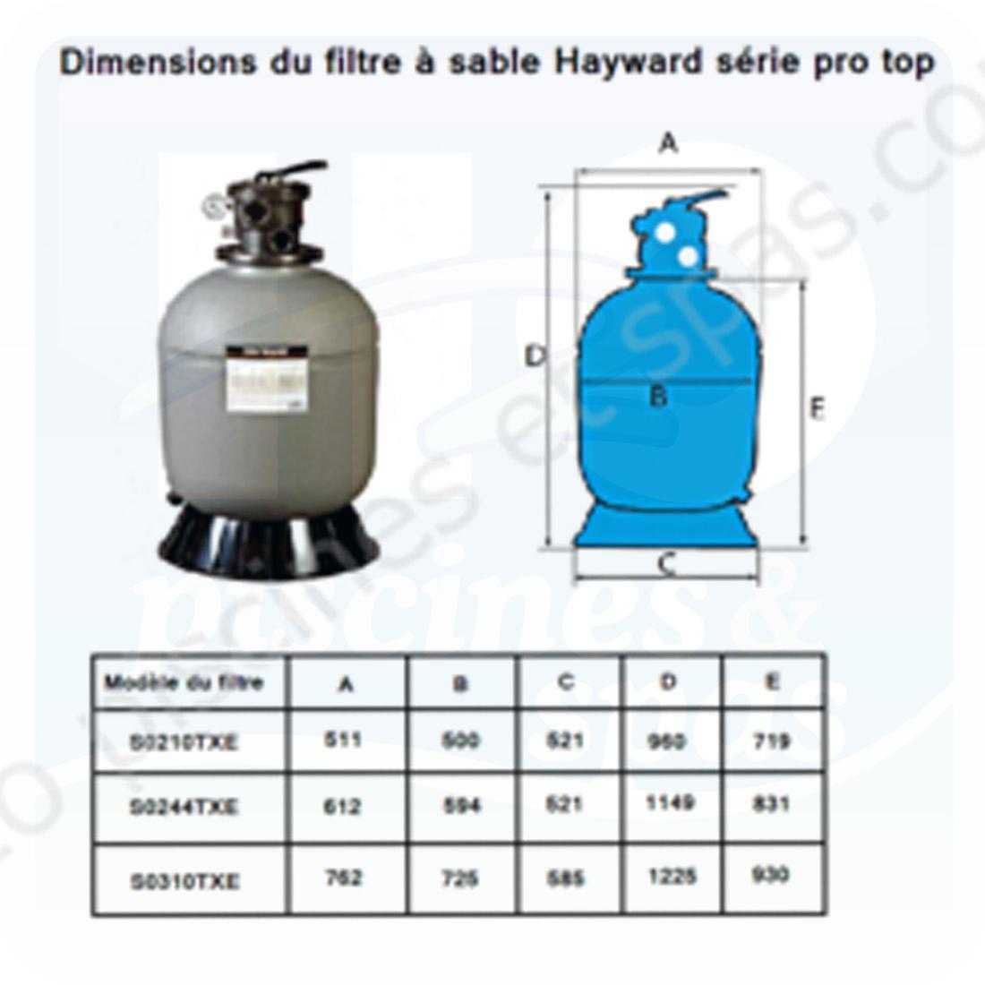 filtre sable hayward serie pro s0244txe vanne 1 1 2. Black Bedroom Furniture Sets. Home Design Ideas