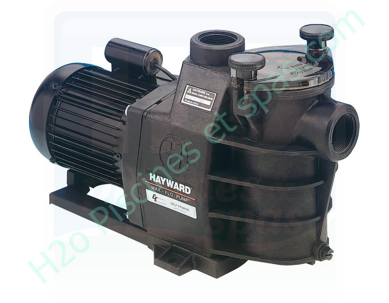 Pompe de filtration hayward max flo 1 5 cv 15m3 h for Pompe piscine 15m3 h