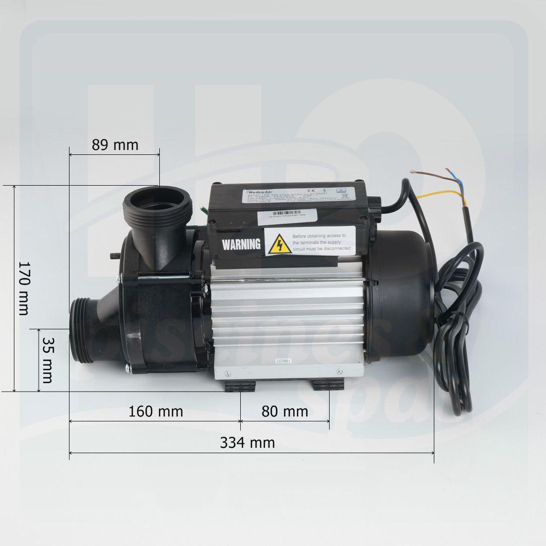pompe de circulation vitesse fixe hydroair ha350 aspiration type vidange h2o piscines spas. Black Bedroom Furniture Sets. Home Design Ideas
