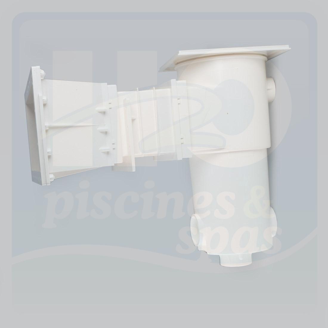 Skimmer AQUAREVA long Grande meurtrire pour piscine bois de 45 mm Blanc H2o Piscines& Spas # Piscine Bois Blanc