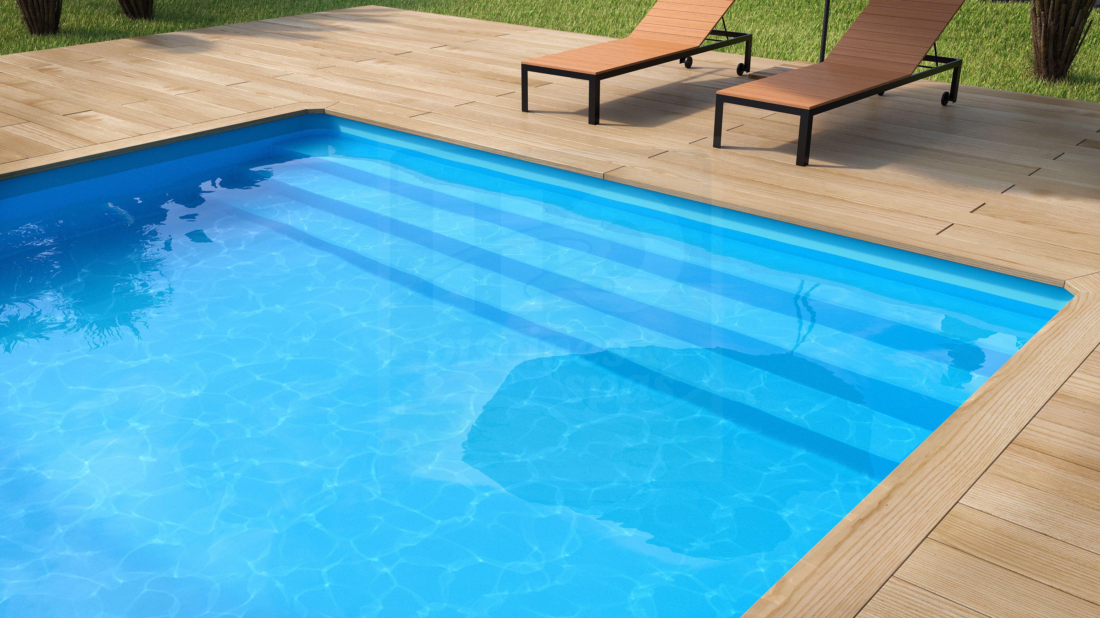 Liner 75 100 me pour piscine universo bois hexagonale 500 for Piscine bois hexagonale