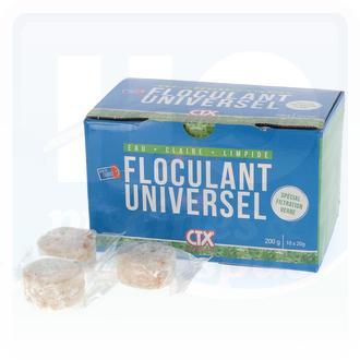 Floculant en pastilles de 20 grammes pour filtre spécial verre recyclé - Boite de 10