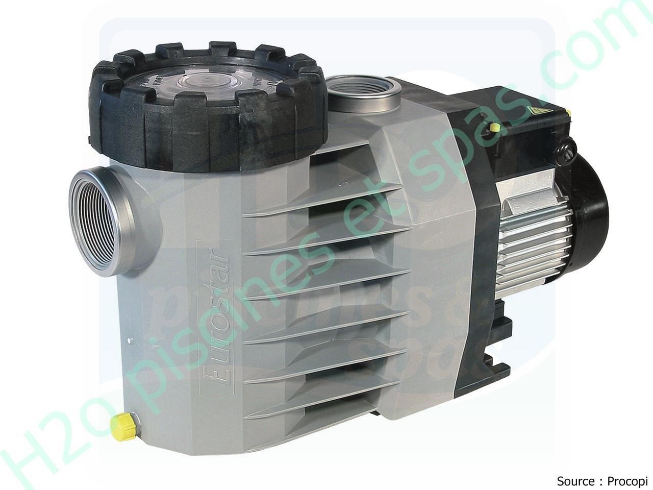 Pompe de filtration speck eurostar ii 150t 1 cv 15m3 h for Pompe piscine 15m3 h