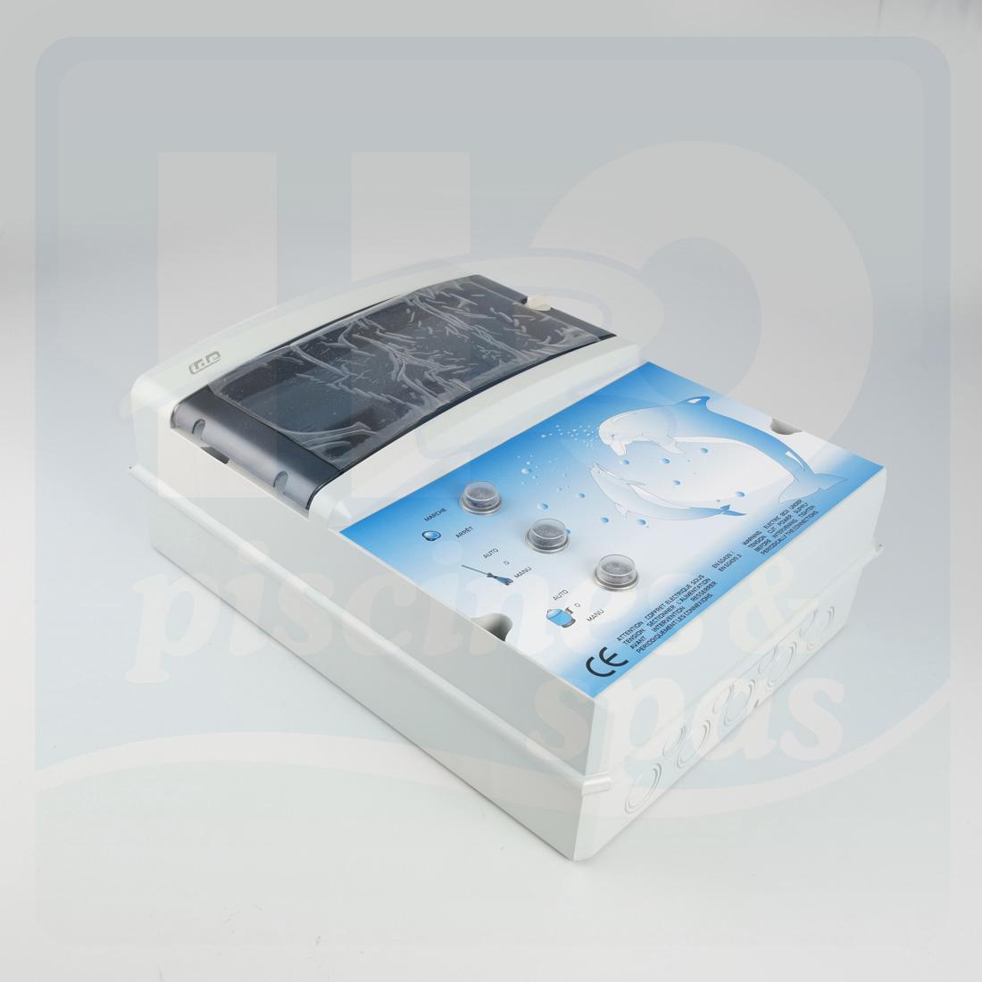 Coffret de filtration pompe balai avec transformateur de for Pompe balai piscine