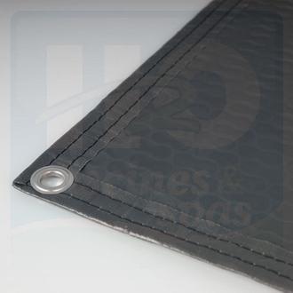 Bâche à bulles 500µ - Opaque grise - noire - Bordée 2 côtés - EnergyGuard - Geobubble