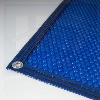 Bâche à bulles 400µ Classic - bleue -  bordée 2 côtés - Simples bulles