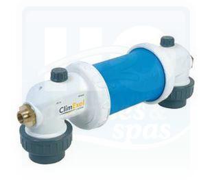 Echangeur thermique à plaques CLIMEXEL nu en titane - MK-2- 40 Kw