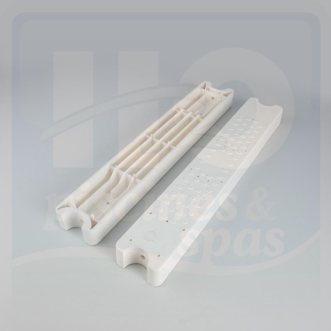 marche d 39 chelle aquamatic blanche 80 d40dc les 2 h2o piscines spas. Black Bedroom Furniture Sets. Home Design Ideas