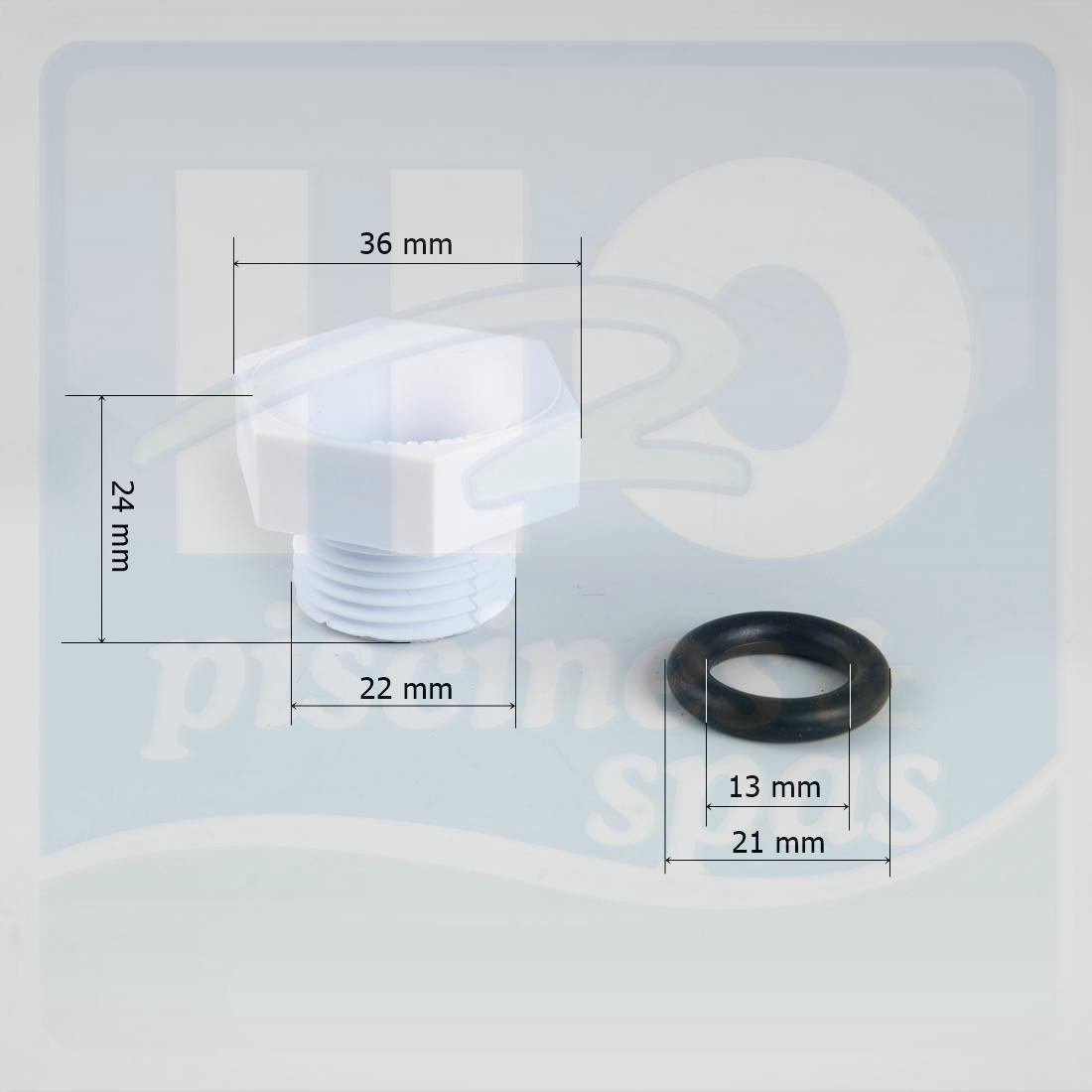 Presse toupe et joint de projecteur hayward 512 h2o for Presse etoupe projecteur piscine