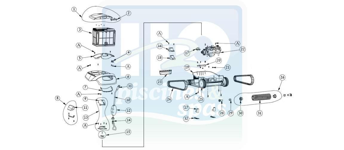 Nouvel Pièces détachées piscines : Robots électriques piscines, DOLPHIN MA-11