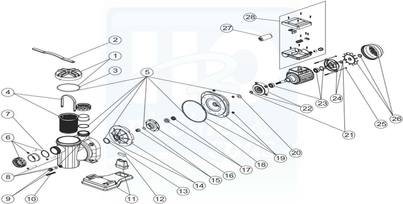 H2o Piscines & Spas - Pices dtaches : Pompes de filtration > ASTRAL ...