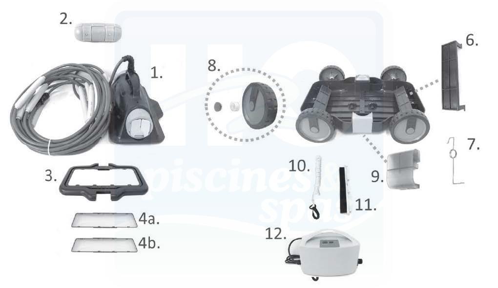 639134fdcee64 Toutes les pièces détachées du robot électrique KOKIDO Drakbot